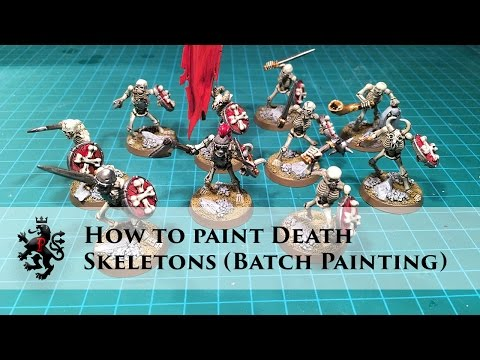 How to Paint Death - Skeletons (Batch Painting)