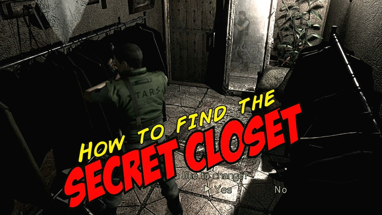 Resident Evil HD Remastered   How To Find The SECRET CLOSET (Chris/Jill)    YouTube