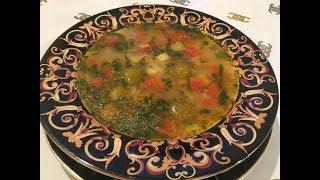 Ətsiz, tərəvəzli və dadlı şorba.  Очень вкусный овощной суп без мяса -