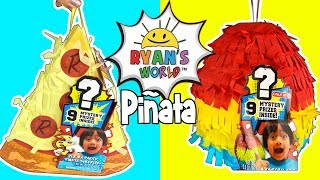 Ryan's World Toy Videos!  New Ryan Toys!   Ryan's World Super Surprise Safe, Purple Mystery Surprise Egg + Ryan ToysReview Piñatas!! Toy Review