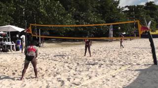 Twisted Shotz female team on their way to Beach Volley Ball title