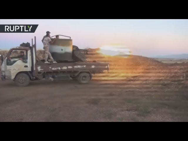RAW: Israel strikes Syrian military in Golan Heights