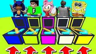 Minecraft PE : DO NOT CHOOSE THE WRONG CHEST! (FuzionDroid, Granny & Sonic.EXE)