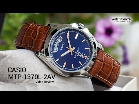 Casio MTP-1370L-2AV Brown Leather Blue Dial Men's Watch Review