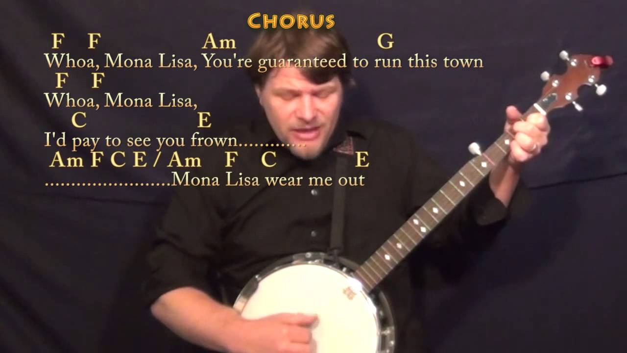 The ballad of mono lisa panic at the disco banjo cover lesson the ballad of mono lisa panic at the disco banjo cover lesson with chords lyrics hexwebz Gallery