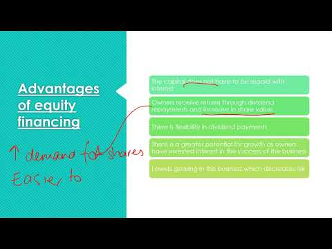Debt and Equity - Advantages and Disadvantages (HSC Finance)