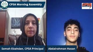 CPSA Morning Assembly Monday January 4, 2021