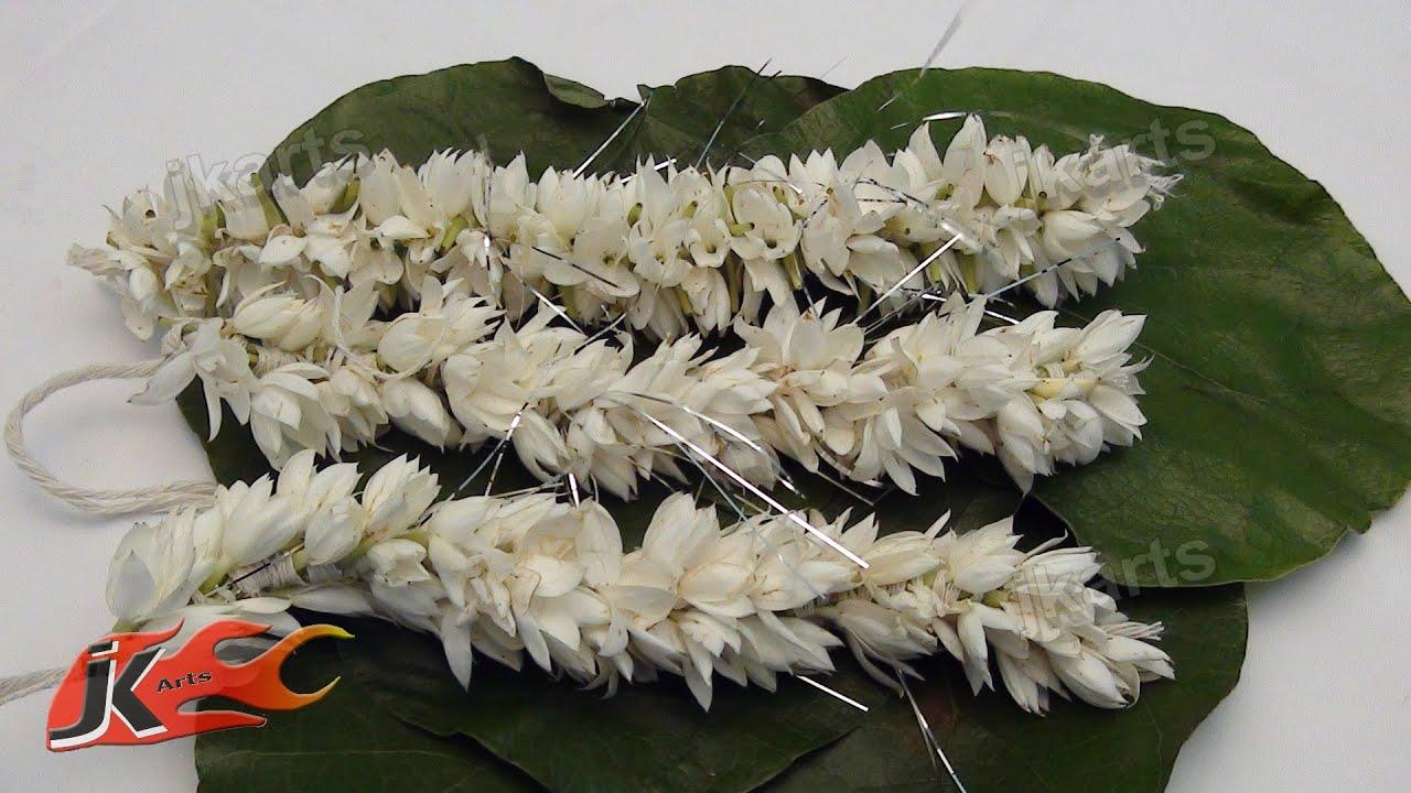 DIY Gajra Veni Flower Garland For Indian Wedding How