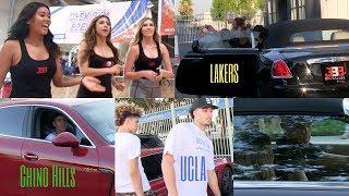BBB Pop UP LaMelo Ball Rollin in A Porsche, Liangelo Ball a Ferrari & Lonzo Ball a Rolls Royce