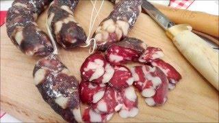 Домашняя сыровяленая говяжья колбаса с луком !