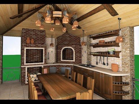 Идеи ремонта летней кухни на даче. Фото проекты