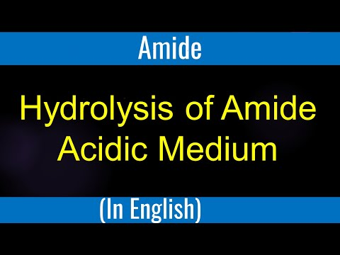 What is Hydrolysis of amide acidic medium # Lecture