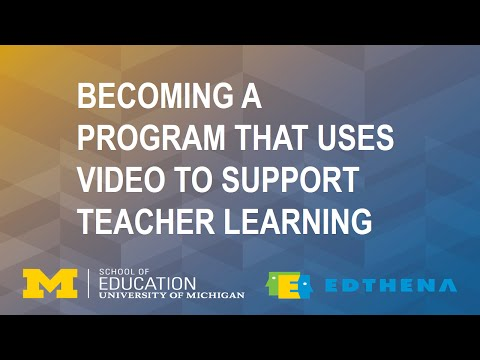 Becoming a Program That Uses Video to Support Teacher Learning