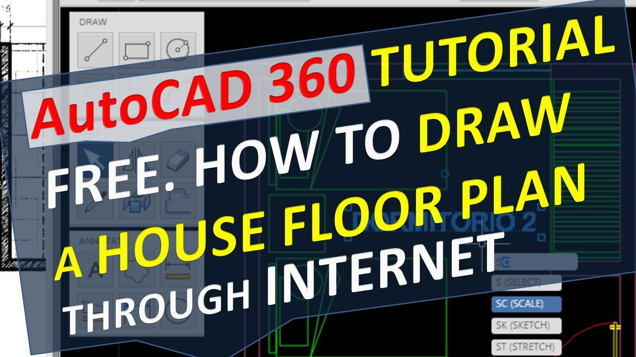 autocad 360 tutorial free. how to draw a house floor plan through