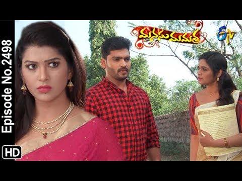 Manasu Mamata | 22nd January 2019 | Full Episode No 2498 | ETV Telugu
