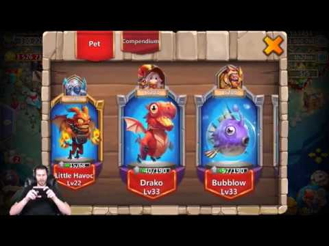 Level 33 Bubblow Heals + Level 5 Fine Crest Set Pack Castle Clash