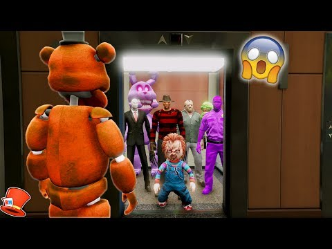 THE HARDEST HORROR ELEVATOR EVER! (GTA 5 Mods For Kids FNAF RedHatter)