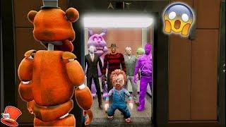 THE HARDEST HORROR ELEVATOR EVER! (GTA 5 Mods For Kids FNAF RedHatter)