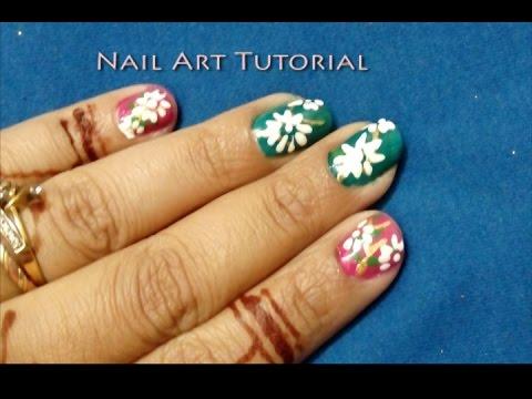 easy nail art for beginners  simple  cute flower petals