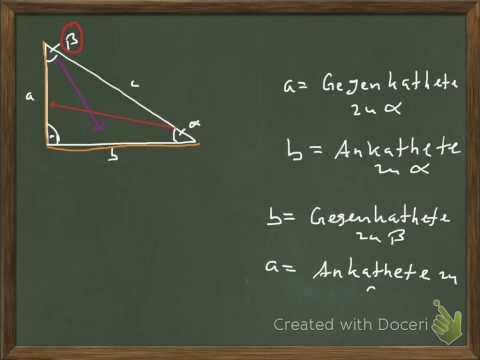 Trigonometrie - Sinus, Cosinus, Tangens Leicht Zu Verstehen