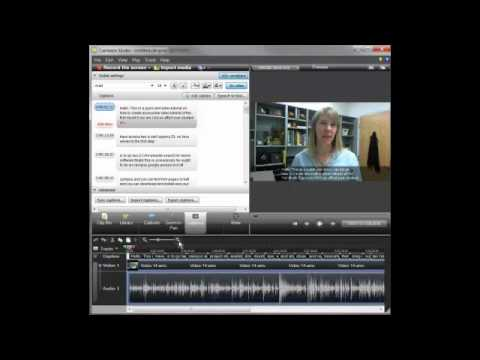 how to add captions to youtube video from camtasia