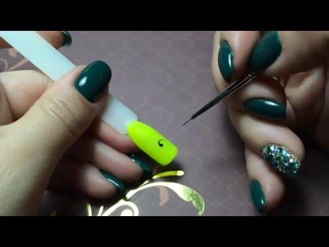 Как нарисовать на ногтях завитушки