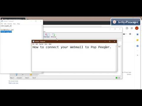 Connect Webmail To POP Peeper (IMAP)