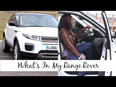 What s In My Car Range Rover Edition Review Look Inside My 2016 Evoque SE