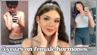 Transgender HRT Update - (Male to Female Hormone Replacement Therapy) *including body clips*
