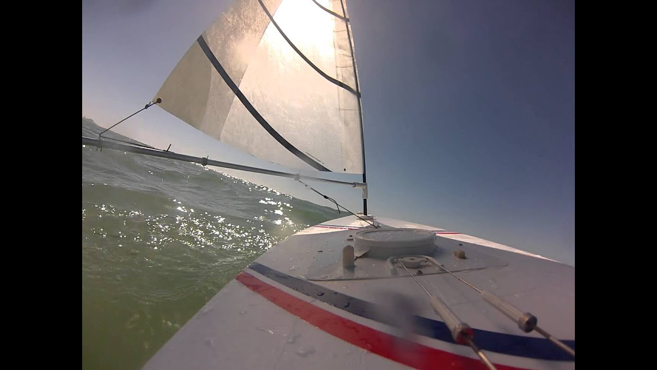 Rc Laser Sailboat Onboard In Gulf Youtube