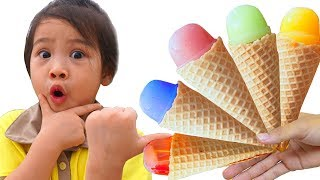 Ice Cream Song | Color Song Nursery Rhymes, Learn Colors with Jelly Ice Cream Action Song with Mommy