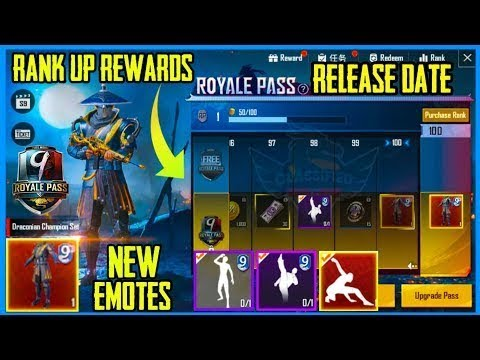Season 9 royal pass new emotes confirm release date and rewards Pubg Mobile