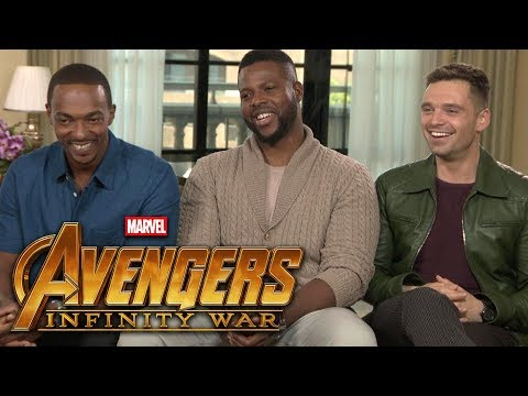 'Avengers: Infinity War': Anthony Mackie, Sebastian Stan and Winston Duke (FULL INTERVIEW)