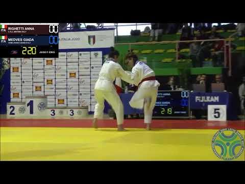[Judo] Coppa Italia Femminile Ostia 2017 63kg Righetti vs Medves