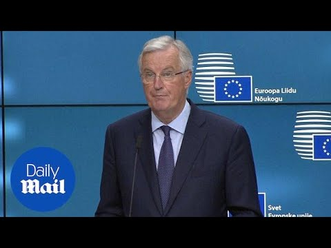 EU Chief Negotiator Michel Barnier responds to UK Brexit White Paper - Daily Mail