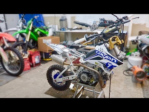 INSANE PIT BIKE MOD BUILD!!! BBR UPGRADES