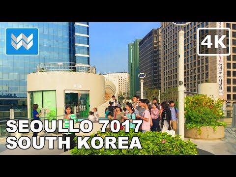 Walking tour of Seoullo 7017 in Seoul, South Korea 【4K】 🇰🇷