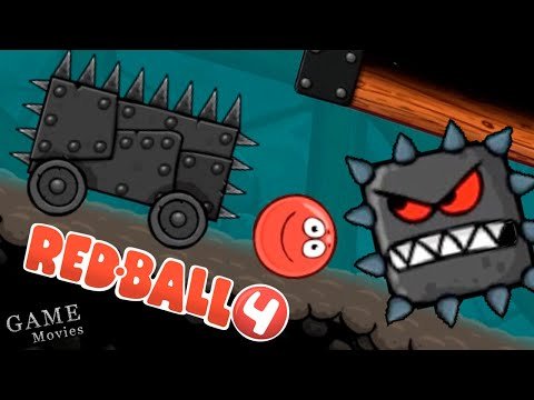 Красный Шар ПРОТИВ Вагонетки и Подземных Квадратов. Приключения Красного Шарика Red Ball 4