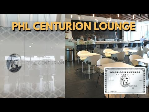 PHL Amex Centurion Lounge: Dinner Edition!