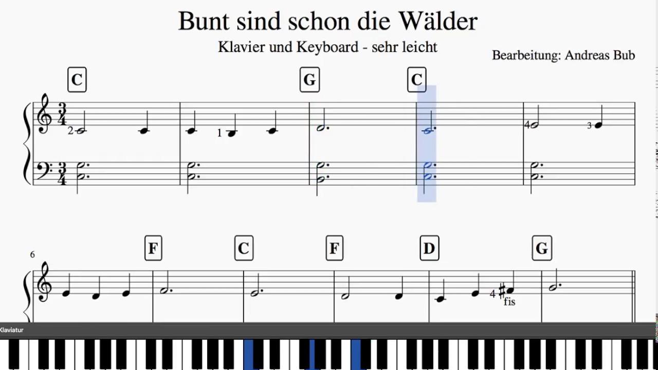 Noten Keyboard Weihnachtslieder Kostenlos.Kinderlieder Von Sehr Leicht Bis Mittelschwer Zuhause Klavier