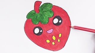 Dibujando y coloreando Fresa Dulce - Drawing and coloring Sweet Strawberry