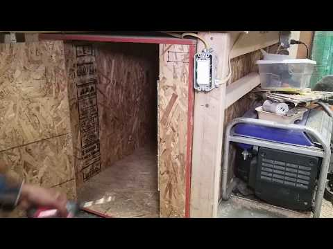 How to build a small shop wood drying kiln