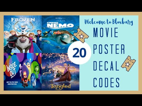 20 Bloxburg Movie Poster Decal Id S Codes In Description Youtube