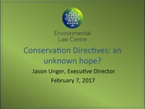 Conservation Directives for Municipalities