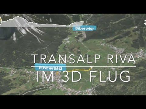 3D Flug Transalp Riva der perfekt MTB Einstieg Zugspitze