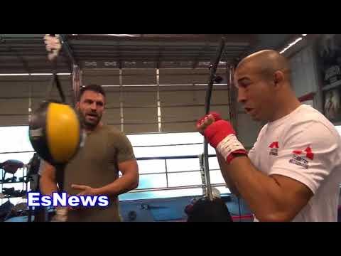 Jose Aldo and Luis Garcia On Conor McGregor Rubber Arms Drill EsNews Boxing