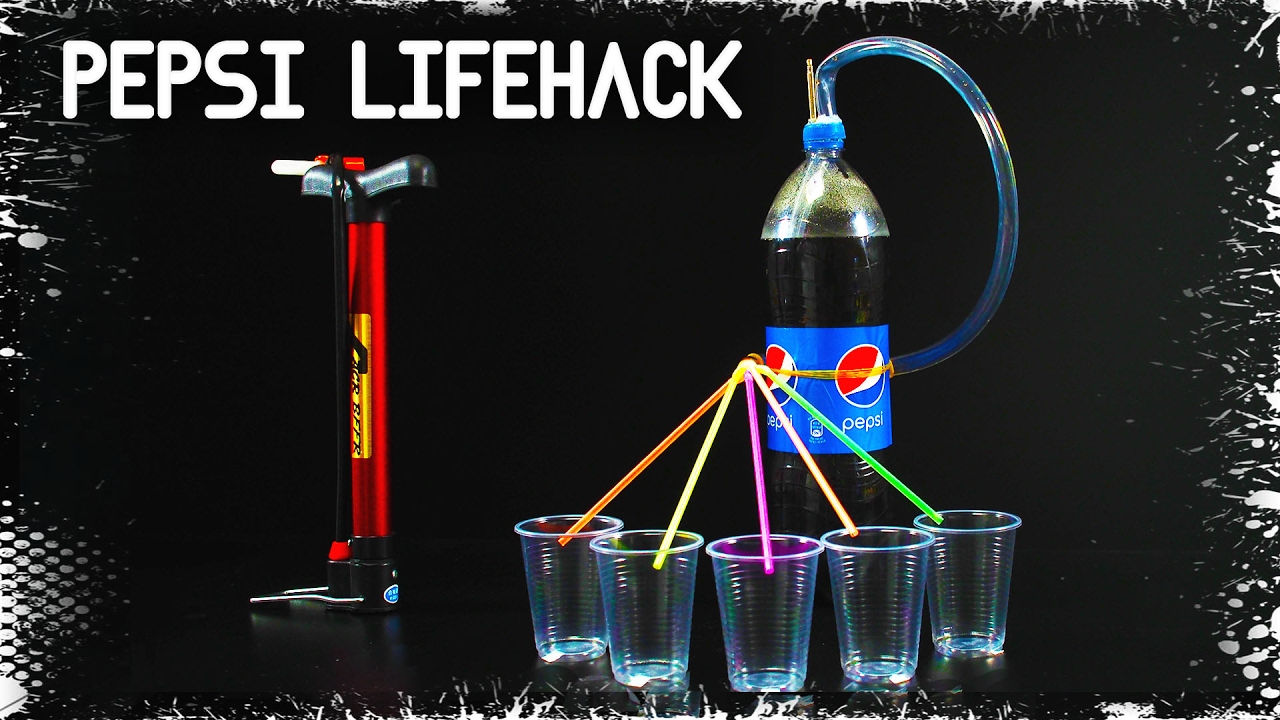 PEPSI LifeHacks en español - Dispensador de bebida casero