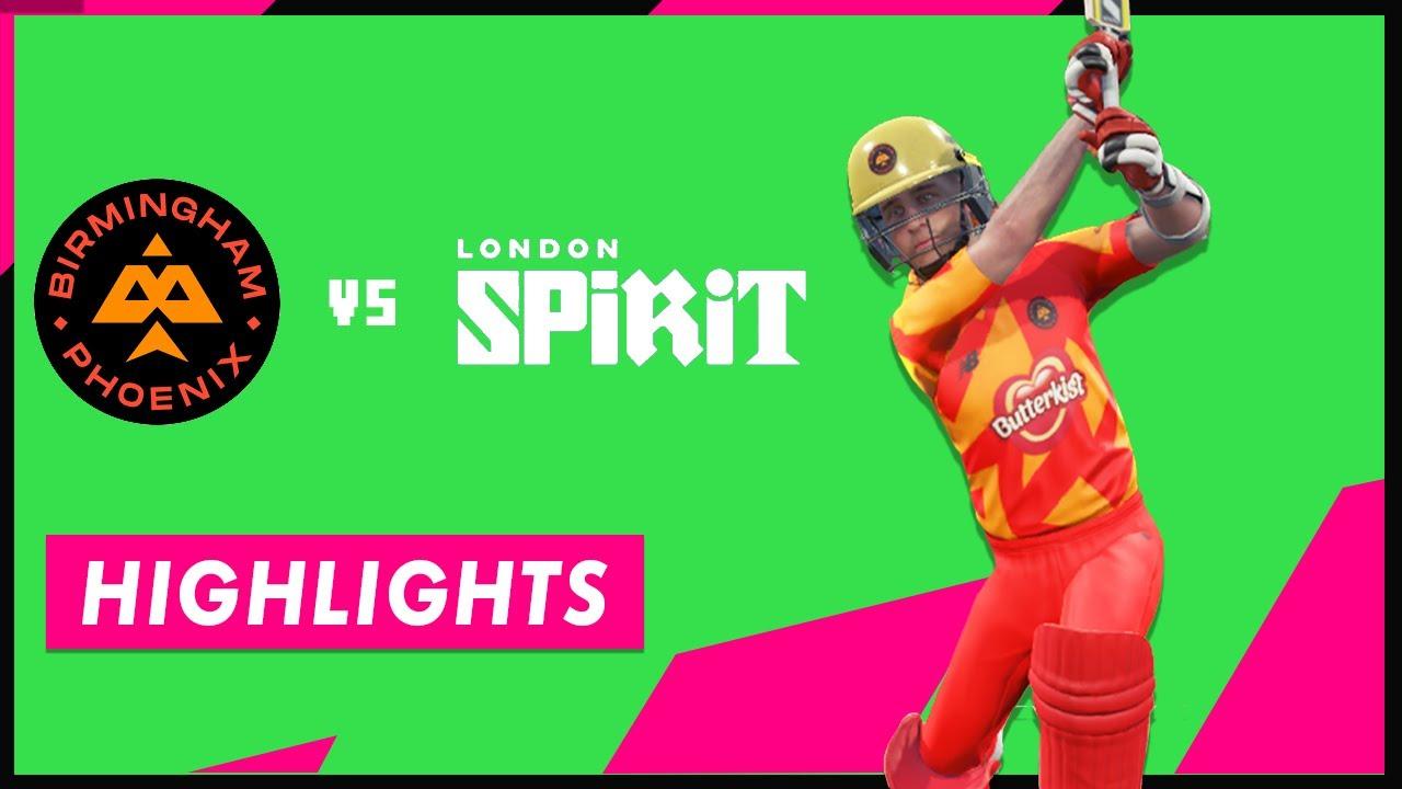 (Cricket 19) Milne's Quickfire Knock goes in vain! Phoenix Vs Spirits: The Hundred - Match 2