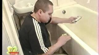 Реставрация ванн, эмалировка ванн(Реставрация ванн http://www.adveffect.com. Мастер нашей фирмы в передаче