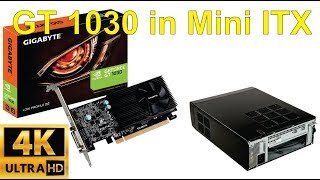 Unboxing and installation of Gigabyte Nvidia GT1030 low profile graphics card into ITX box